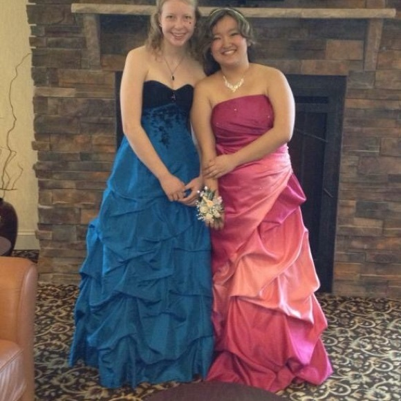 cbe449d73bf92 Deb Dresses | Dress On Right In Photo Pink Ombr Prom Dress | Poshmark
